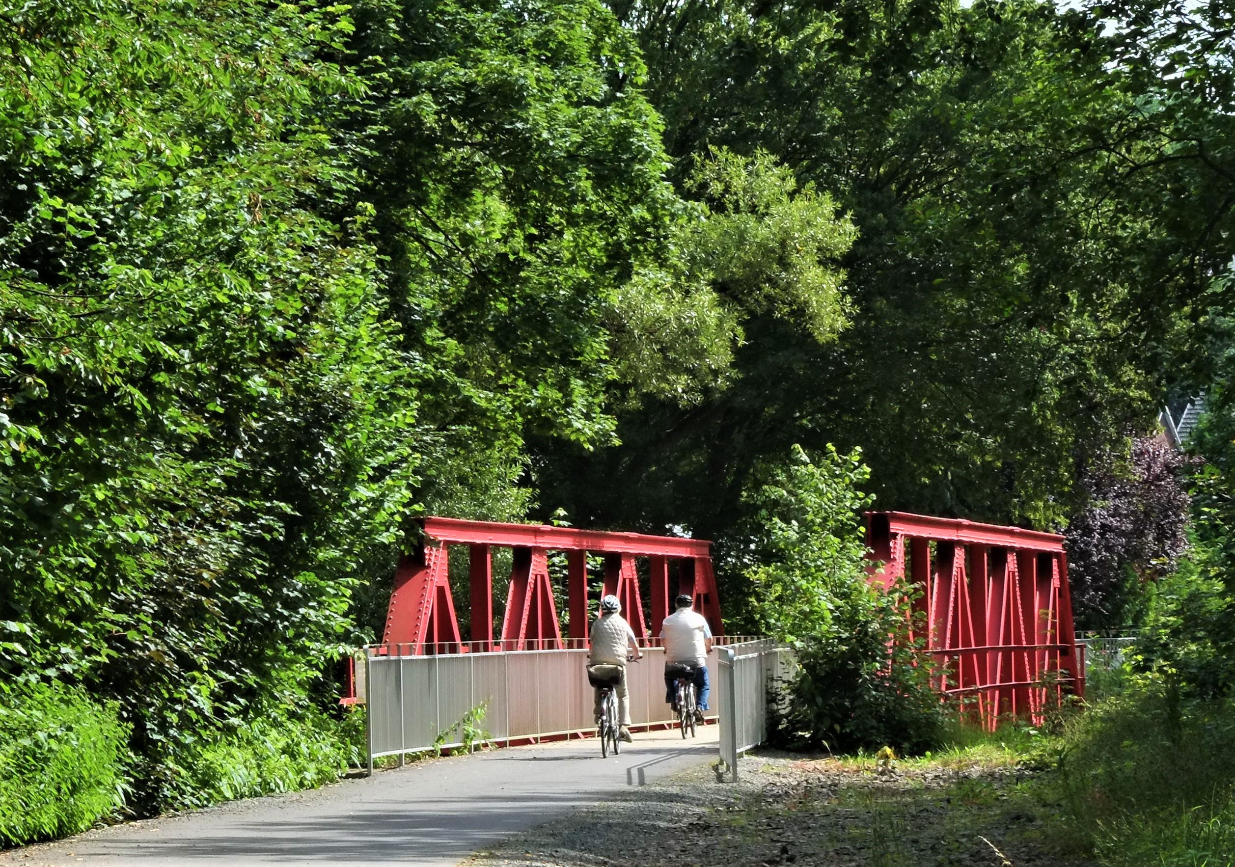Aggerbrücke auf dem Panoramradweg, Etappe Agger-Dörspe bei Derschlag